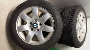 BMW alloy wheels with Hankook winter tires