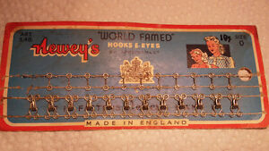 Vintage Hooks & Eyes on cards Sewing Notions Collectible Adverts