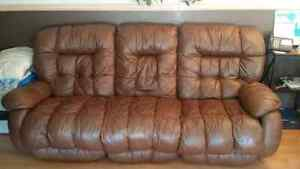 Leather Reclining Couch and rocking chair