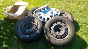 4 x used 195/65R15 Tires with Rims