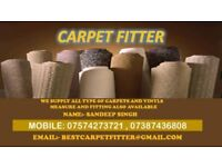 Carpet fitter and vinyl flooring