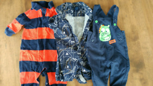 Large lot of baby boy clothes 0-12 months