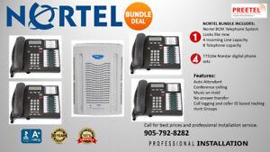 Nortel Avaya BCM Telephone System Refurbished + 4 phones! $1499