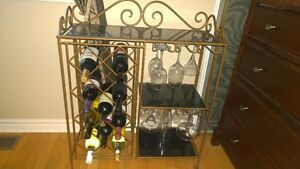 Wine rack & glass holder MINT condition