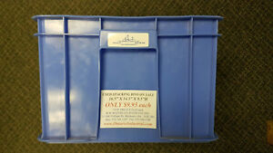 USED PLASTIC STACKING BINS. STORAGE BINS & TOTES. OVER 55% OFF London Ontario image 2