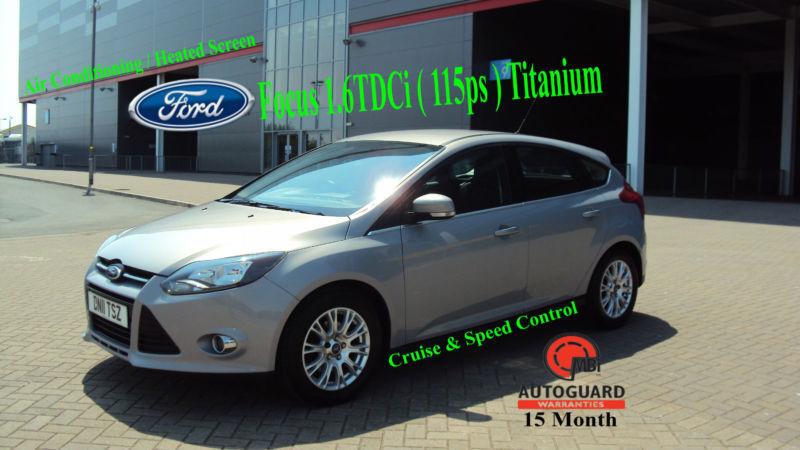 2011 FORD FOCUS 1.6TDCi ( 115ps ) TITANIUM SILVER DIESEL CAR