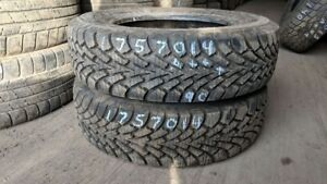 Pair of 2 Goodyear Nordic Winter 175/70R14 WINTER tires (90% tre