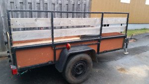 4x8 trailer with removal sides