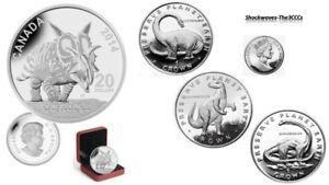 Silver $20 Dinosaur Xenoceratops Foremostensis Coin with 3 FREE