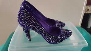 Le Chateau - spiky/ sparkly purple heels, barely worn