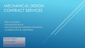 Mechanical Design/Drafting Services Cambridge Kitchener Area image 1