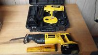Dewalt 18V Cordless Finish Nailer and Recip Saw