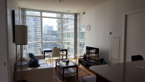 June: Downtown Furnished 2 Bedroom + Large Den next to Union