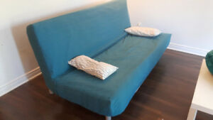 Canape convertible lit 2 places (sofa bed) Ikea Beddinge Bleu