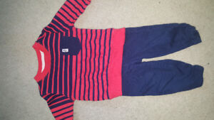 Carters 6 month boy outfit warn once euc