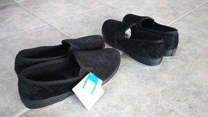 FOAMTREADS ladies slippers black