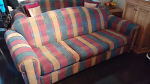 2 IDENTICAL FABRIC SOFAS FOR SALE-$500/300