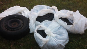 """15"""" Goodyear Nordic Winter Tires 195/55R/15 and rims X4 Belleville Belleville Area image 2"""