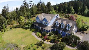 Ocean View Home & Acreage For Sale on Mayne Island