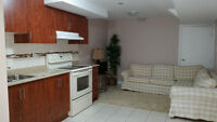 NEW!  NEVER LIVED IN BASEMENT APT. IN AJAX