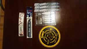 Brand New Assorted Saw Blades and Drill Battery