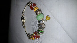 Charms and Bracelet.