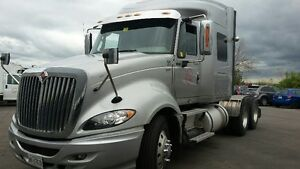 2012 International Prostar + Eagle Sleeper Truck Tractor SILVER