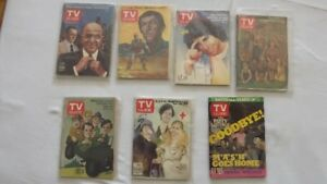 7 VINTAGE ISSUES OF TV GUIDE:3 MASH,KOJAK,KUNG FU,KOTTER,WALTONS