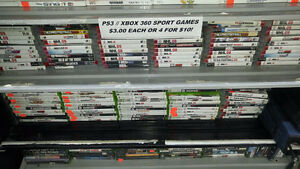 PS3/ XBOX 360 regular games are $5/ Sports titles $3 each @ ABC!