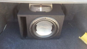 Presicision 800W 12' sub with box and 2 amps Cambridge Kitchener Area image 1