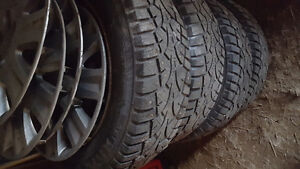 Excellent 185/65/15 Studded Winter Tires Mounted On Rims 5X114.3