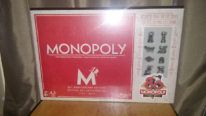 Brand New Monopoly Game Set - 80th Anniversary Edition