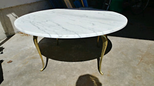Vintage 1950 marble coffee table