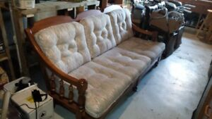 Solid hardwood couch & matching rocker