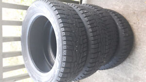 Set of four 205/55r16 winter tires for sale, lots of thread