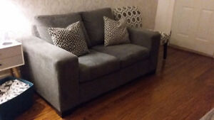 Grey Love seat and matching Chair