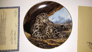 """Will Nelson """"The Snow Leopard"""" Collectable Plate"""