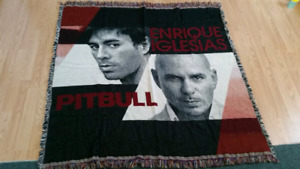 Pitbull & Enrique VIP knitted Throw Blanket.
