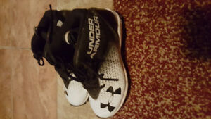 youth small football pants and size 1 under armour cleats