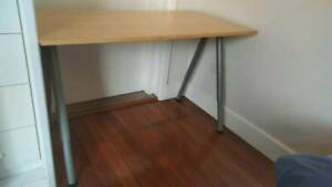 Ikea Computer Desk Table 120x60cm with Adjustable Legs