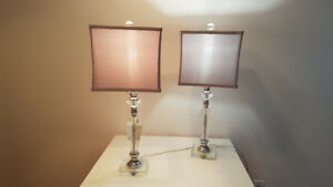 Crystal lamps: 1 for $50 or 2 for $80