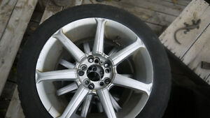 Four rims / two winter tires