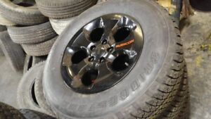 Jeep Wrangler Rubicon rims and Bridgestone Dueler A/T tires