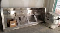 Commercial kitchen hood and fire suppression