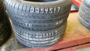 Pair of 2 Pirelli Cinturato P7 AS (run-flat) 225/45R17 tires (90