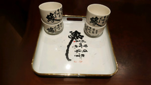 Chinese Cups & Tray