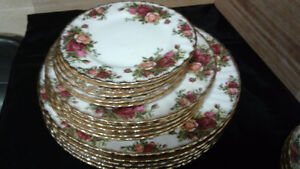 Royal albert country rose dishes.