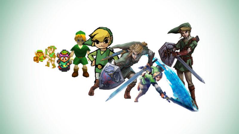 Die Zelda-Figuren von früher bis heute.