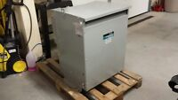 75 kva Transformer 3 phase indoor dry. 600 to 120 / 208.
