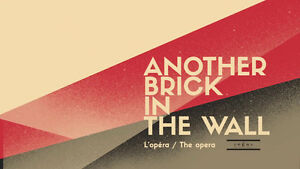 Another Brick In The Wall - parterre. paire de billets